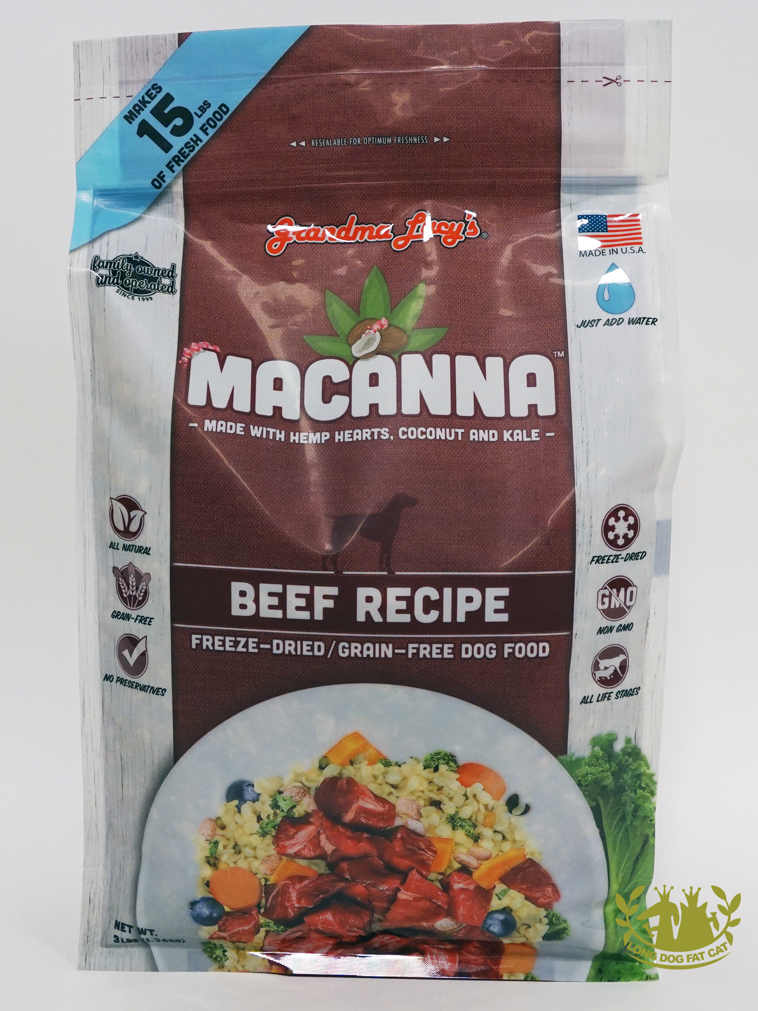 Grandma Lucy's Macanna Dog Food Available at Long Dog Fat Cat