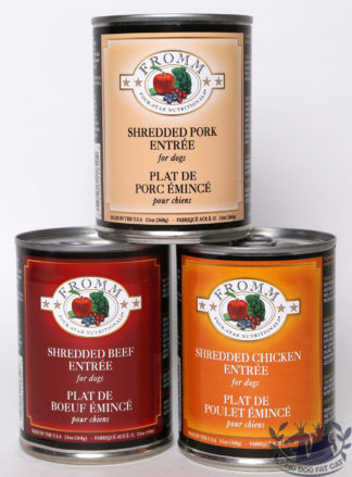 13oz Fromm Four Star Shredded Meat Canned Dog Food