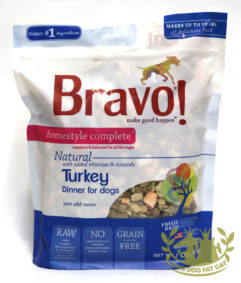 Bravo! Homestyle Complete Turkey Dinner Dehydrated Dog Food