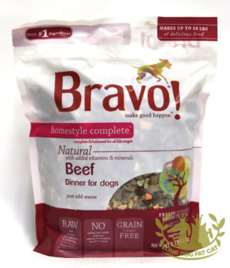 Bravo! Homestyle Complete Beef Dinner Dehydrated Dog Food