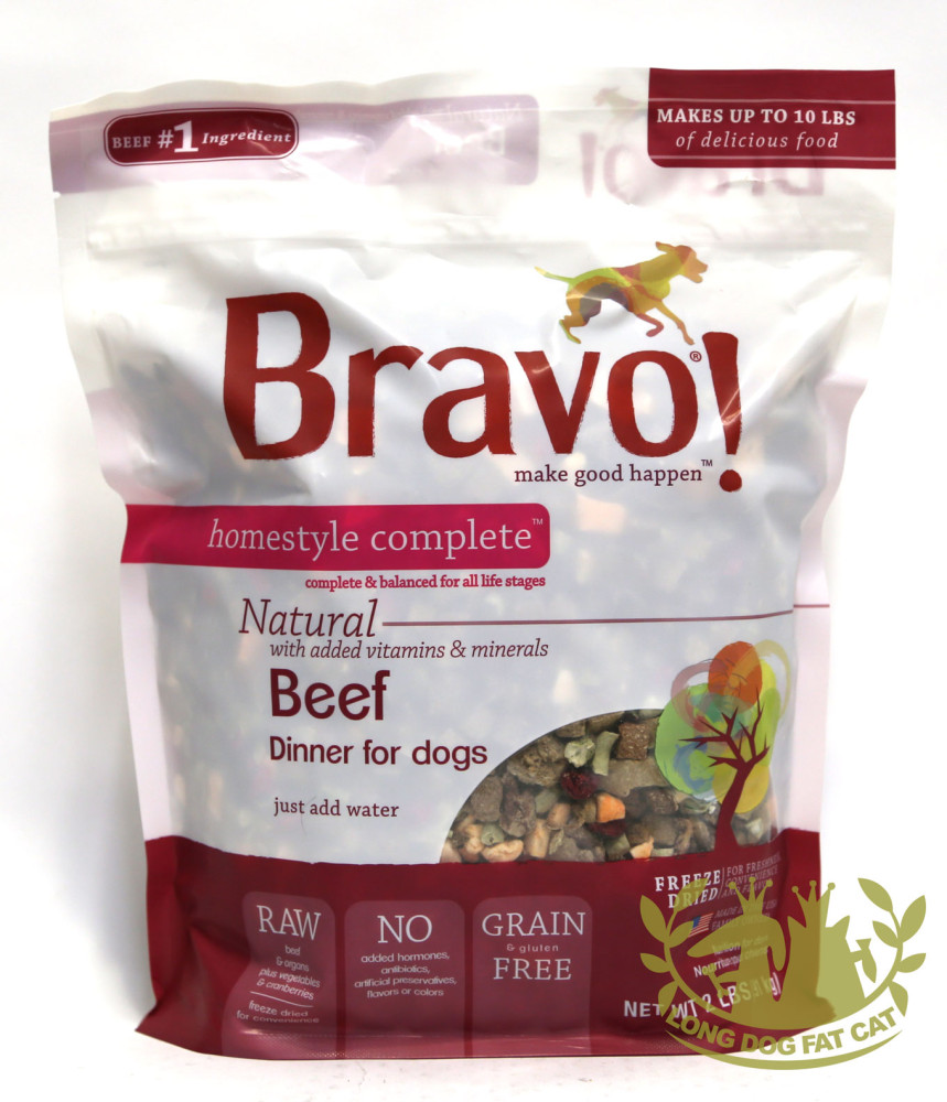 Bravo homestyle complete beef dinner dehydrated dog for Cuisines completes