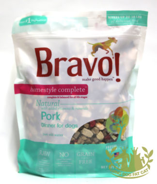 Bravo! Homestyle Complete Pork Dinner Dehydrated Dog Food