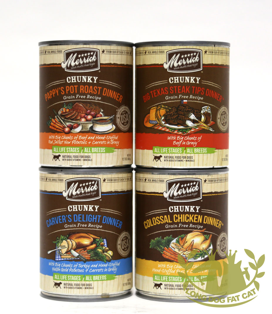 12.7oz Merrick Chunky Grain Free Dog Cans